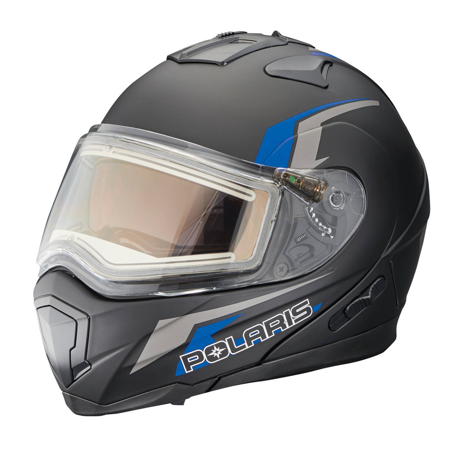 Modular 1.5 Adult Helmet with Electric Shield, Black/Blue