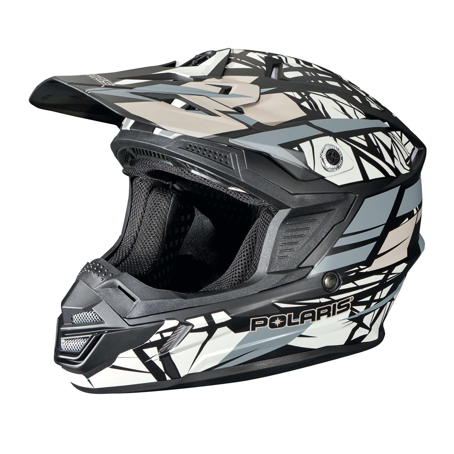 Tenacity Adult Moto Helmet with Removable Liner, Gray
