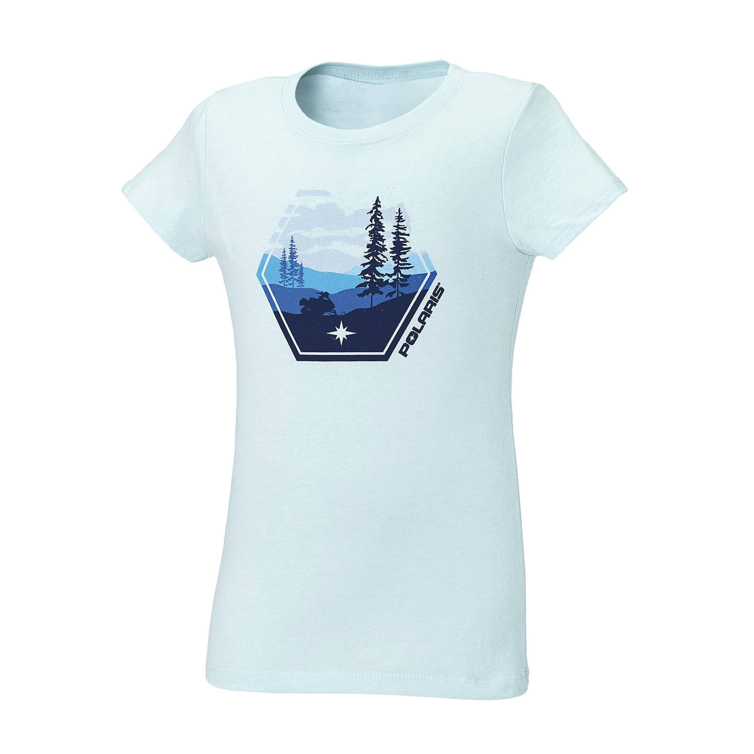 Youth Scenic Graphic T-Shirt with Polaris® Logo, Navy Heather