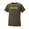 Men's Graphic T-Shirt with Polaris® Logo, Olive Heather - Image 1 de 3