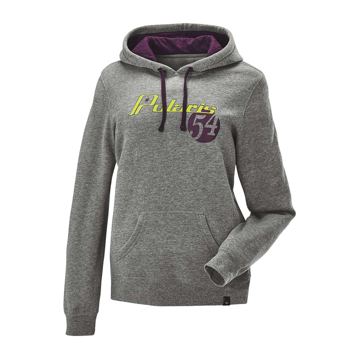Women's Retro Hoodie Sweatshirt with Polaris® Logo, Gray