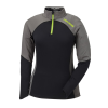 Women's Long-Sleeve Quarter-Zip Pullover with Lime Polaris® Logo, Black/Gray - Image 1 de 2