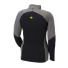 Women's Long-Sleeve Quarter-Zip Pullover with Lime Polaris® Logo, Black/Gray - Image 2 de 2