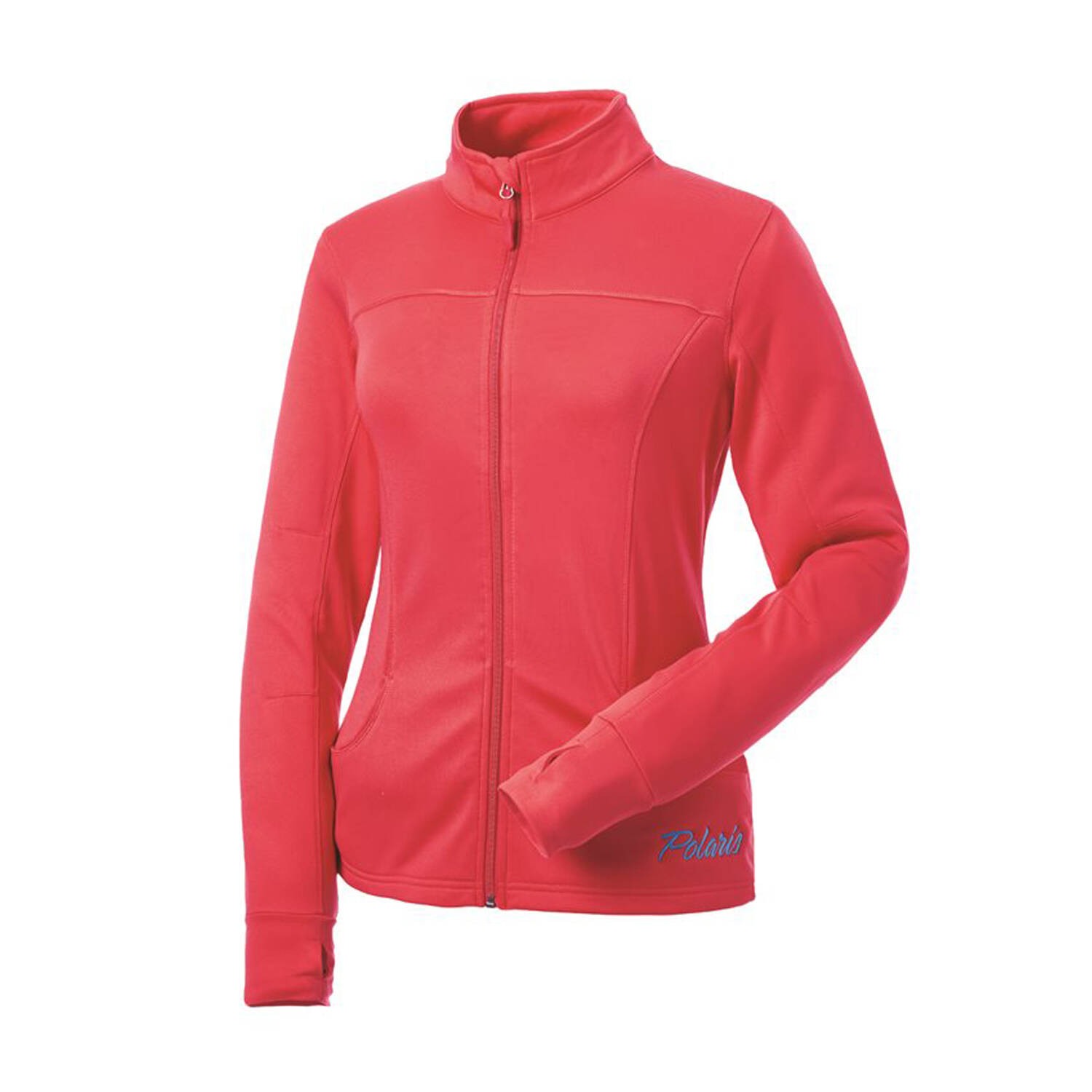 Women's Full-Zip Tech Jacket with Blue Polaris® Logo, Coral