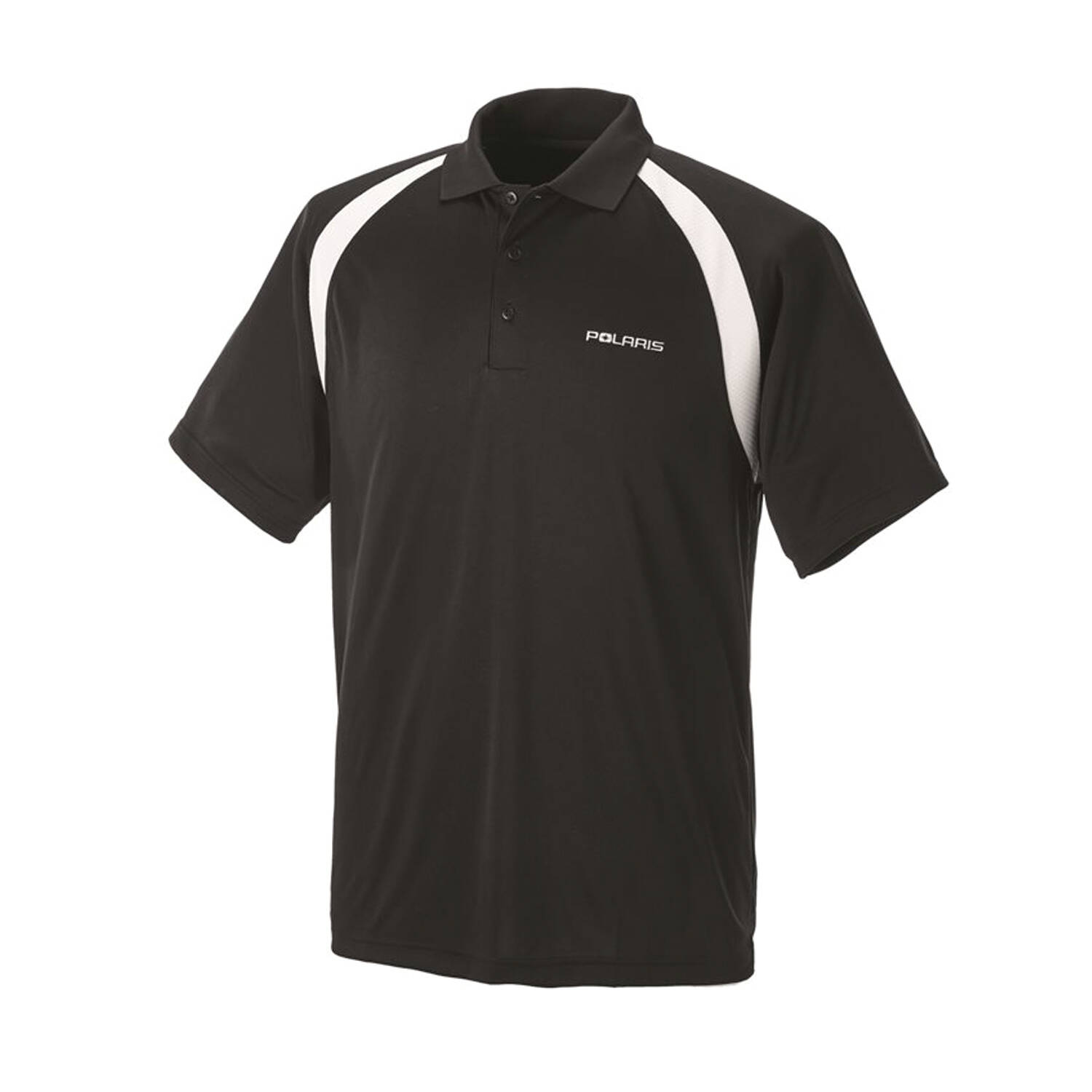 Men's Short-Sleeve Classic Core Polo with White Polaris® Logo, Black