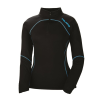 Women's Long-Sleeve Quarter-Zip Pullover with Blue Polaris® Logo, Black - Image 1 de 3