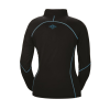 Women's Long-Sleeve Quarter-Zip Pullover with Blue Polaris® Logo, Black - Image 2 de 3