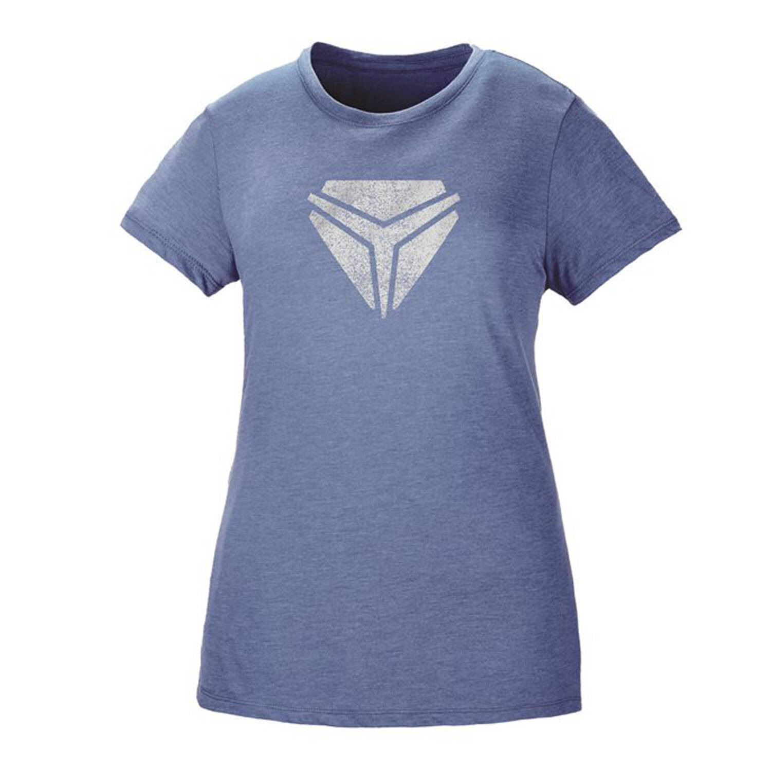 Women's Vintage Shield Tee - Blue/White