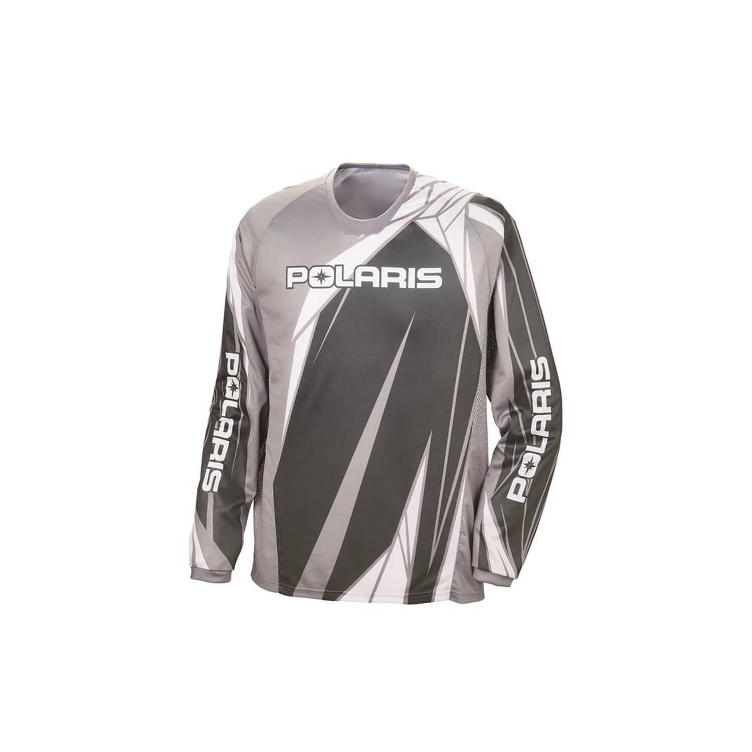 Unisex Long-Sleeve Off-Road Riding Jersey with Mesh Ventilated Panels, Gray