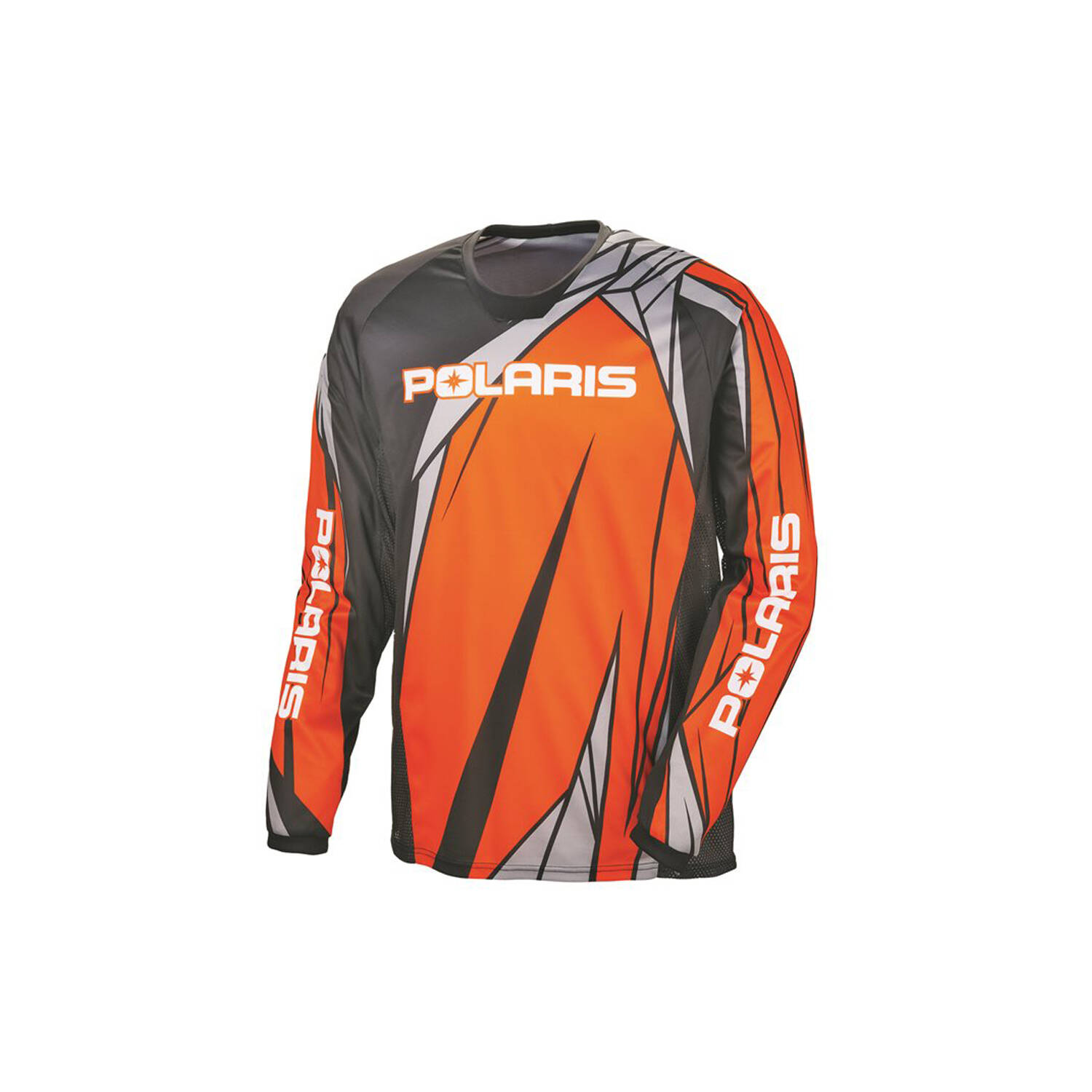 Unisex Long-Sleeve Off-Road Riding Jersey with Mesh Ventilated Panels, Orange
