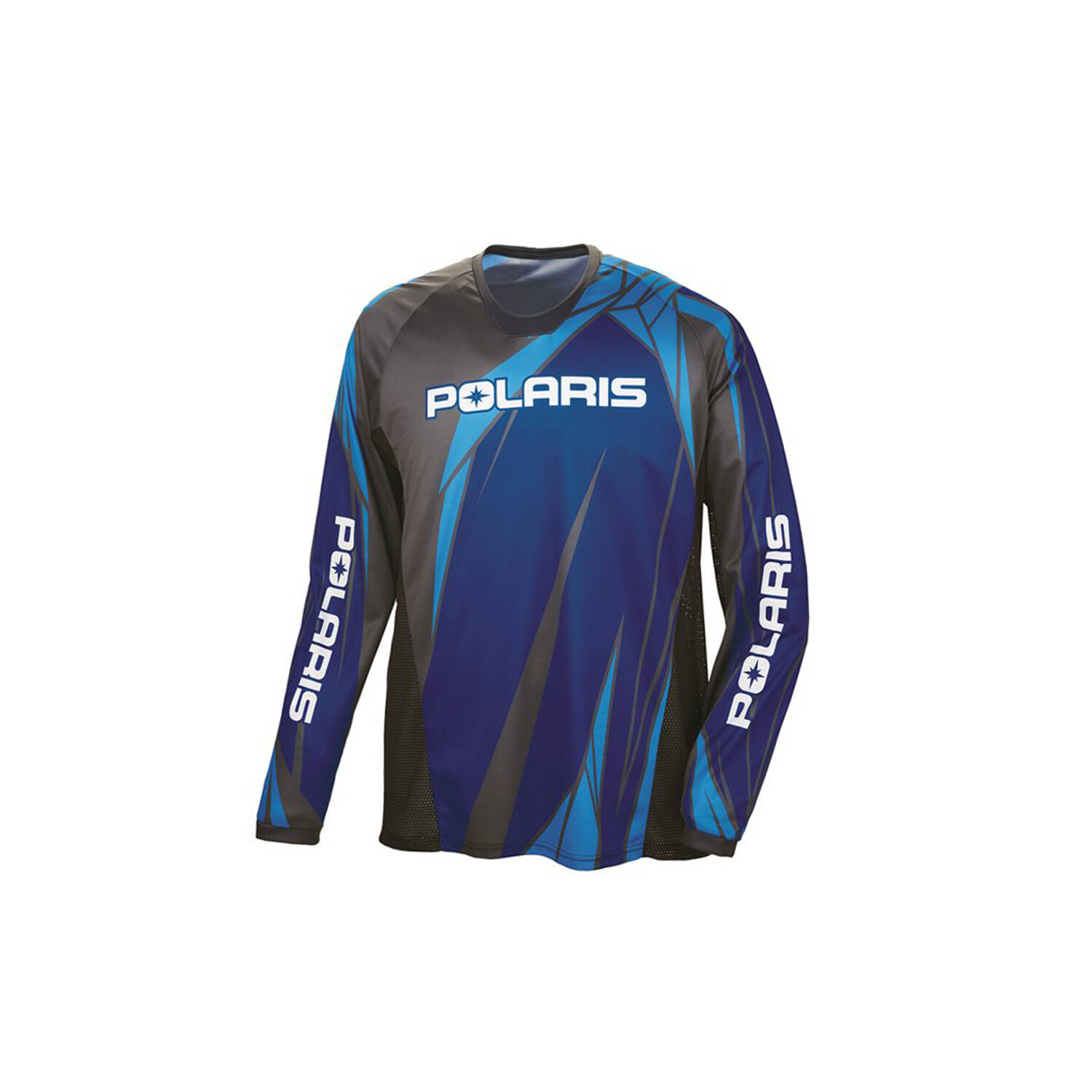 Unisex Long-Sleeve Off-Road Riding Jersey with Mesh Ventilated Panels, Blue
