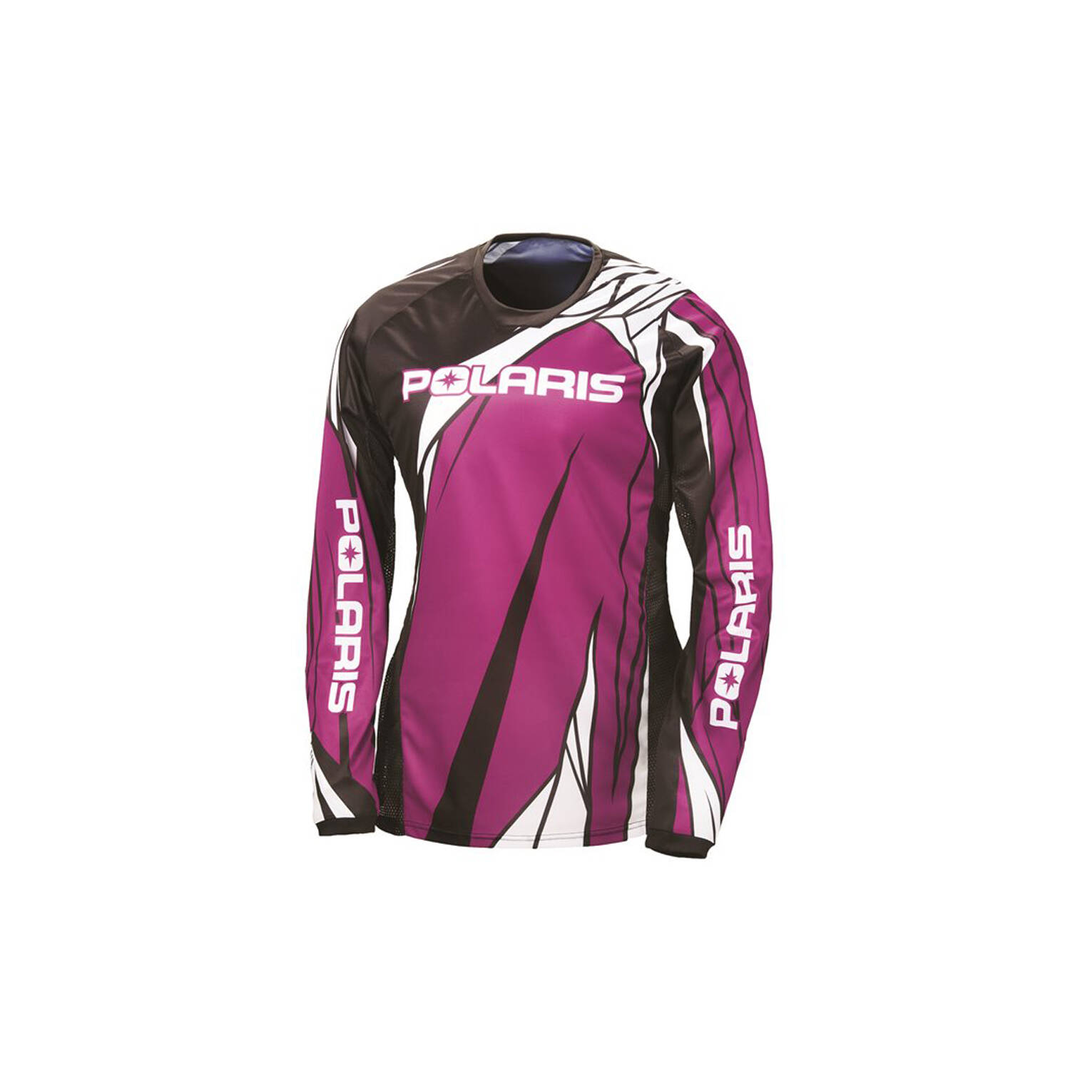 Unisex Long-Sleeve Off-Road Riding Jersey with Mesh Ventilated Panels, Pink