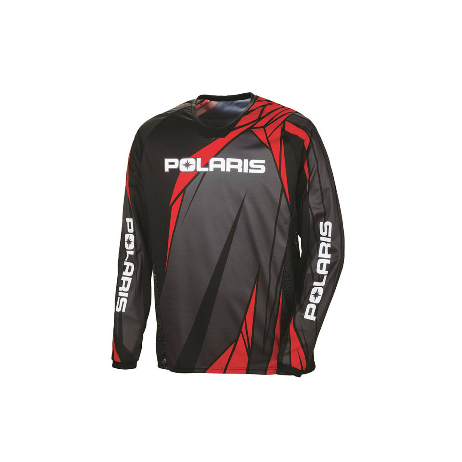 Unisex Long-Sleeve Off-Road Riding Jersey with Mesh Ventilated Panels, Red