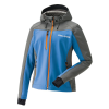 Women's Softshell Jacket with White Polaris® Logo, Blue/Orange - Image 1 of 4