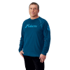 Men's Long-Sleeve Retro Graphic Performance Shirt with Polaris® Logo, Navy - Image 1 de 1