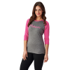 Women's 3/4 Sleeve Graphic T-Shirt with Polaris® Logo, Pink - Image 1 of 3