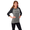 Women's 3/4 Sleeve Graphic T-Shirt with Polaris® Logo, Gray - Image 1 of 2