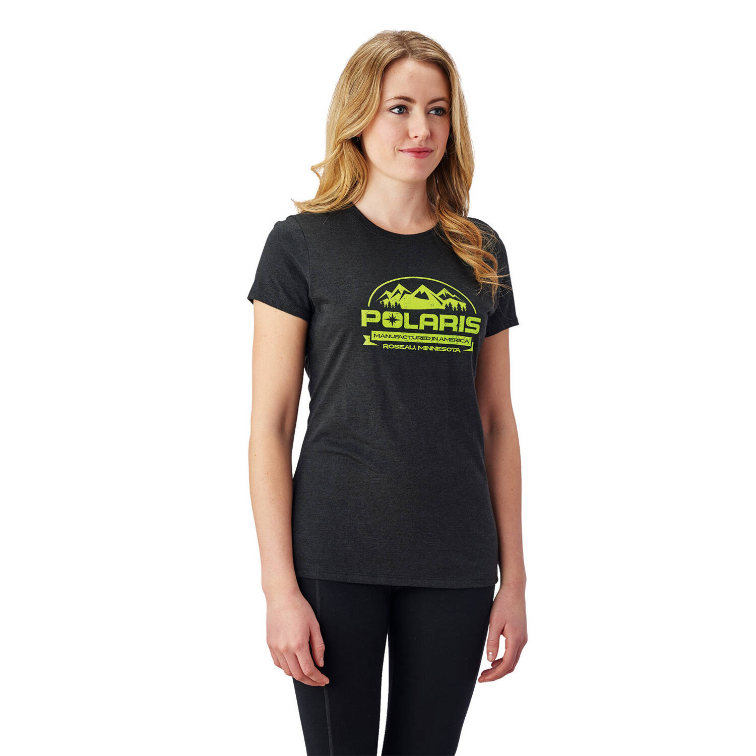 Women's Roseau Graphic T-Shirt with Polaris® Logo, Black