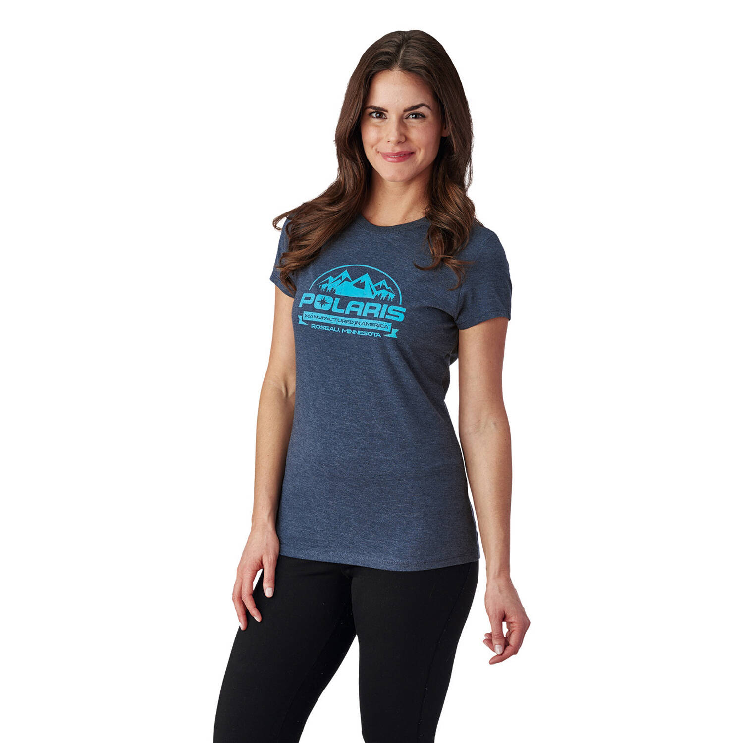 Women's Roseau Graphic T-Shirt with Polaris® Logo, Navy