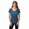 Women's Graphic T-Shirt with Script Polaris® Logo, Navy - Image 1 of 2