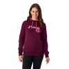 Women's Retro Hoodie Sweatshirt with Polaris® Logo, Berry - Image 1 de 1