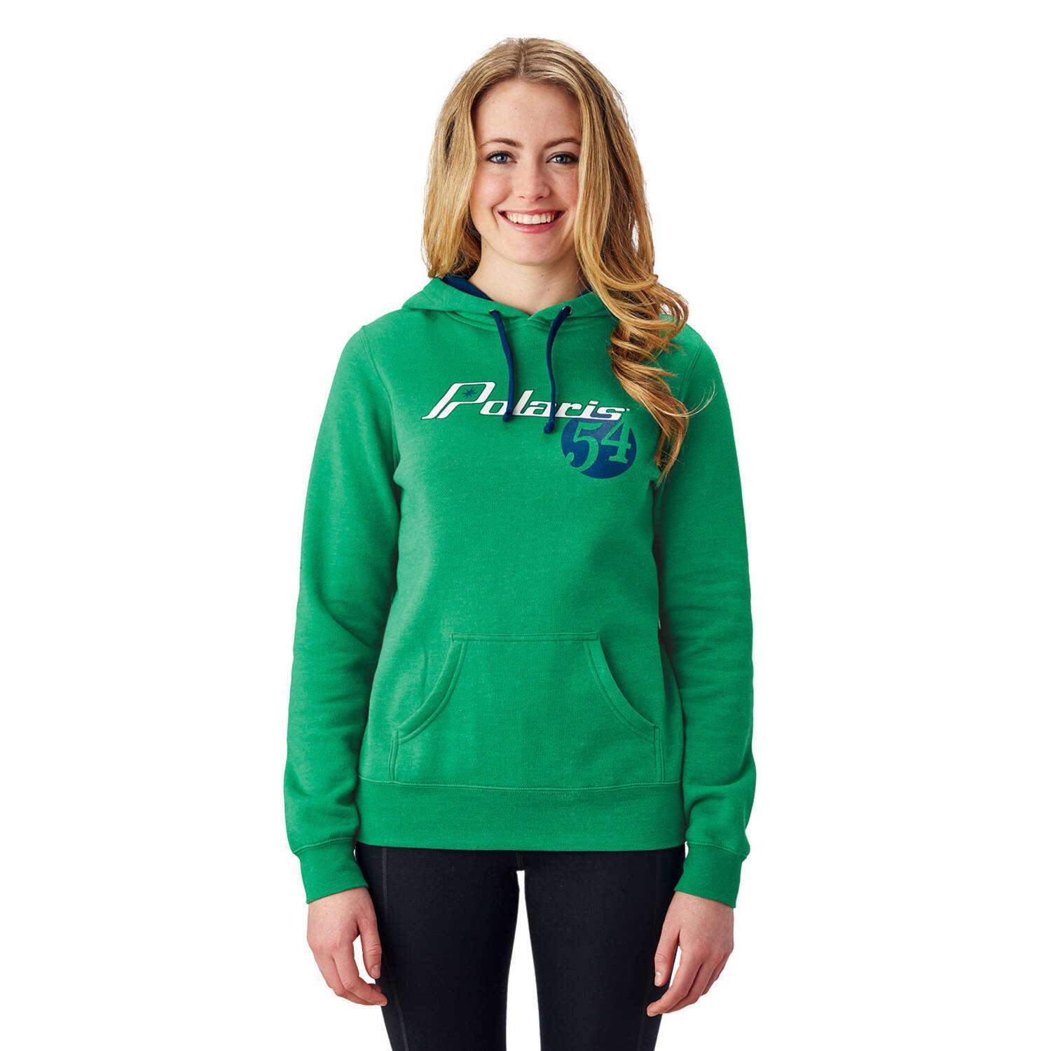 Women's Retro Hoodie Sweatshirt with Polaris® Logo, Kelly Green