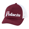 Women's Adjustable Mesh Snapback Hat with Retro White Polaris® Logo, Berry - Image 1 of 3