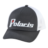 Women's Adjustable Mesh Snapback Hat with Retro White Polaris® Logo, Gray - Image 1 of 2
