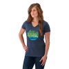 Women's V-Neck Trail Graphic T-Shirt with Polaris® Logo, Blue - Image 1 of 1