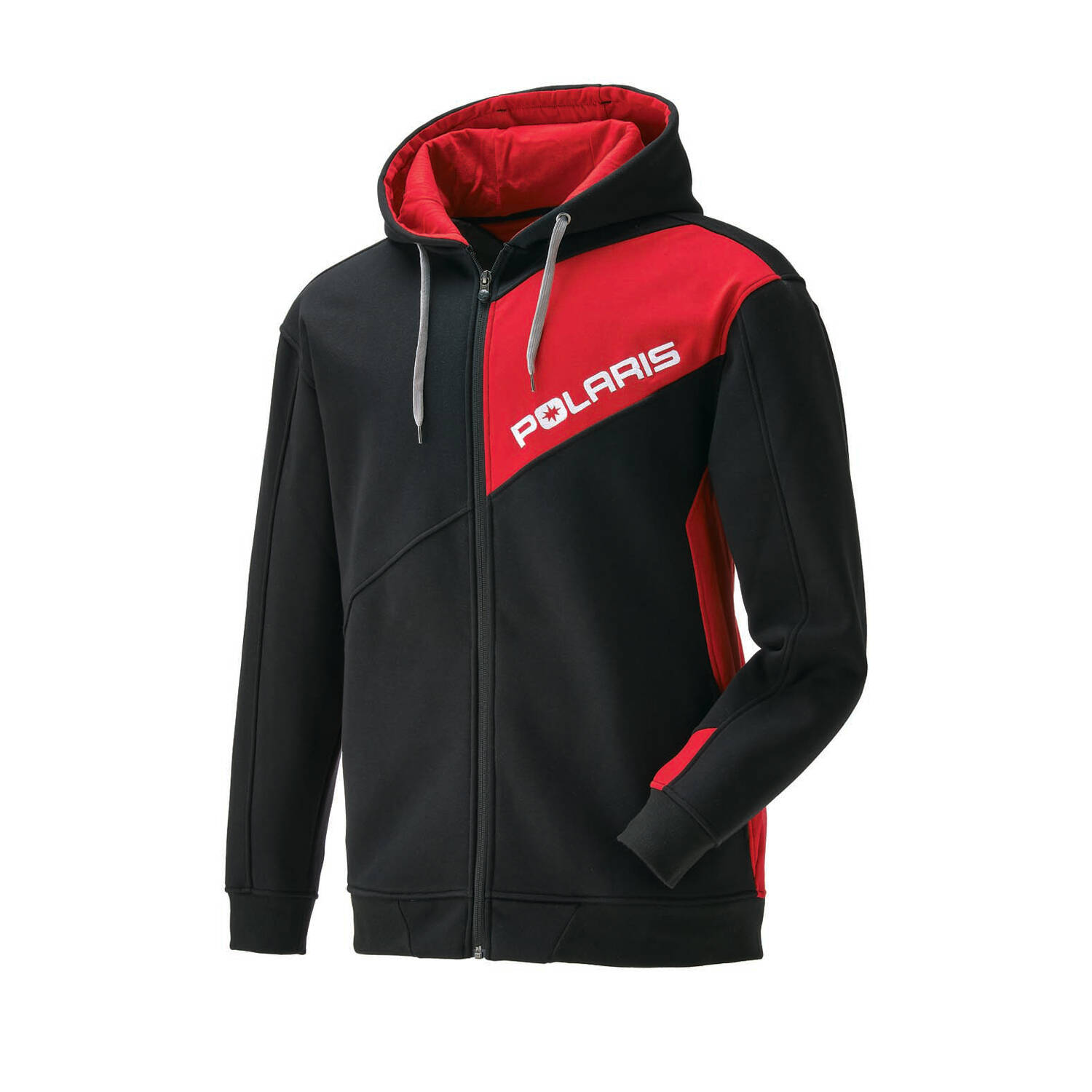 Men's Full-Zip Hoodie Sweatshirt with RZR® Logo, Black
