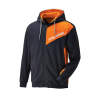Men's Full-Zip Hoodie Sweatshirt with RZR® Logo, Navy - Image 1 de 4