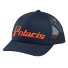Men's Adjustable Mesh Snapback Hat with Retro Orange Polaris® Ellipse Logo, Navy - Image 1 de 1
