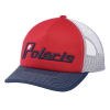 Men's Adjustable Mesh Snapback Hat with Retro Navy Polaris® Ellipse Logo, Red - Image 1 de 2