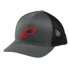 Men's Adjustable Mesh Snapback Hat with Retro Red Polaris® Logo, Charcoal - Image 1 of 2