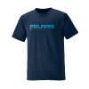Men's Graphic T-Shirt with Polaris® Logo, Navy - Image 1 de 3