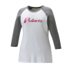 Women's 3/4 Sleeve Graphic T-Shirt with Polaris® Logo, White/Gray - Image 1 of 4
