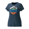 Women's Hex Graphic T-Shirt with Polaris® Logo, Navy Frost - Image 1 de 2
