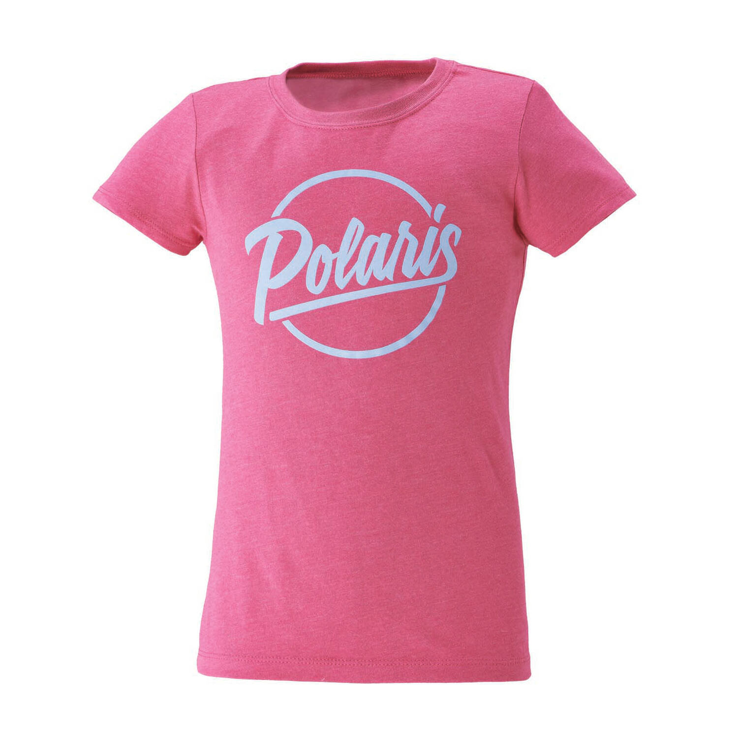 Youth Graphic T-Shirt with Script Polaris® Logo, Raspberry