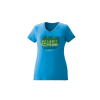 Women's V-Neck Trail Graphic T-Shirt with Polaris® Logo, Turquoise - Image 1 of 1