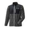 Men's Full-Zip Mid Layer Jacket with Lime Polaris® Logo, Black - Image 1 of 4