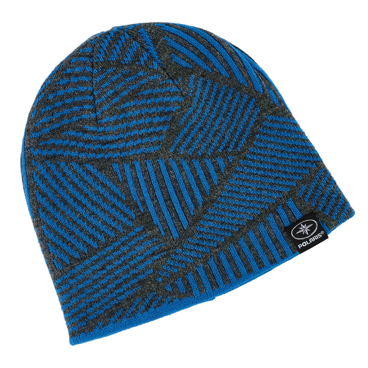 Youth Jersey Knit Reversible Beanie, Blue