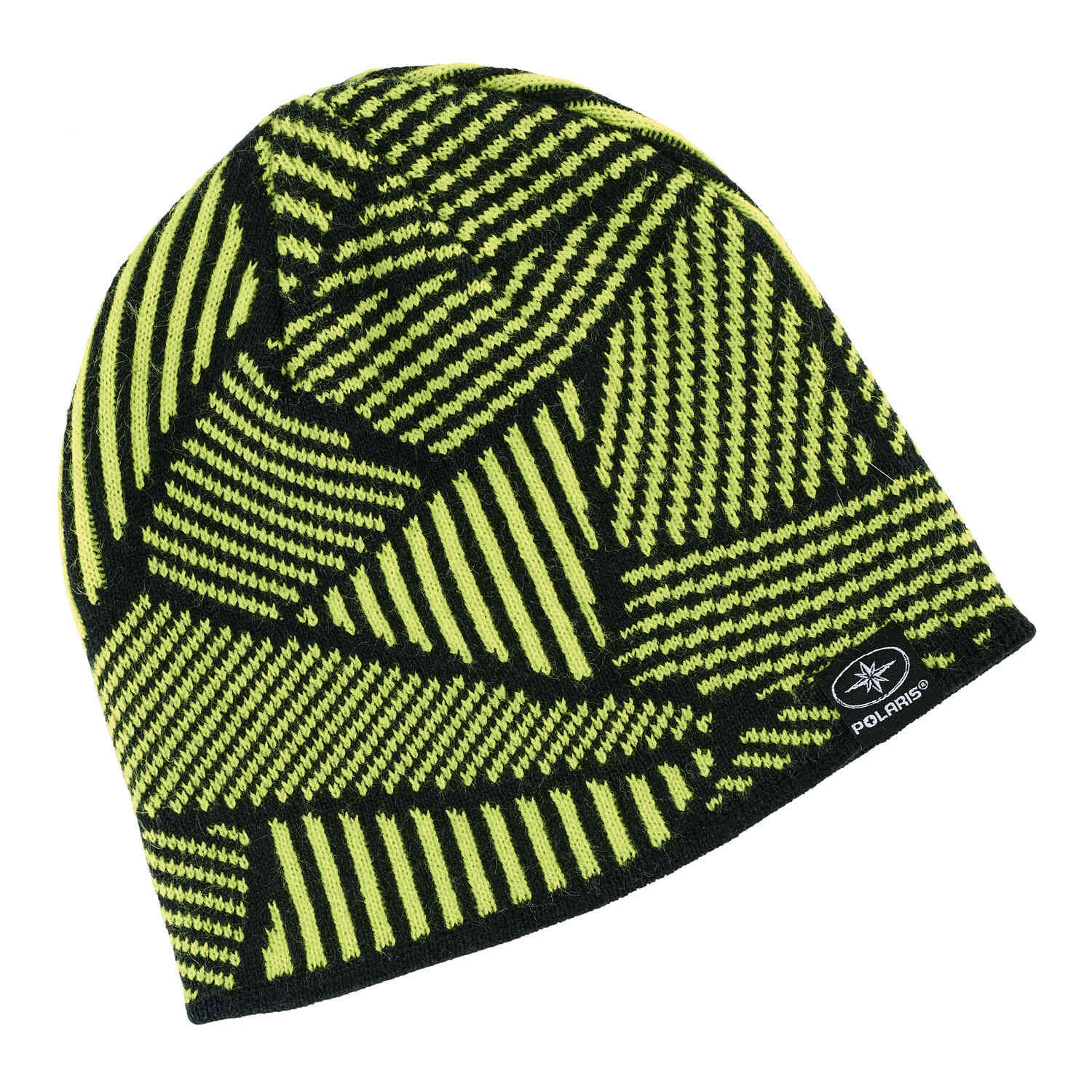Youth Jersey Knit Reversible Beanie, Lime