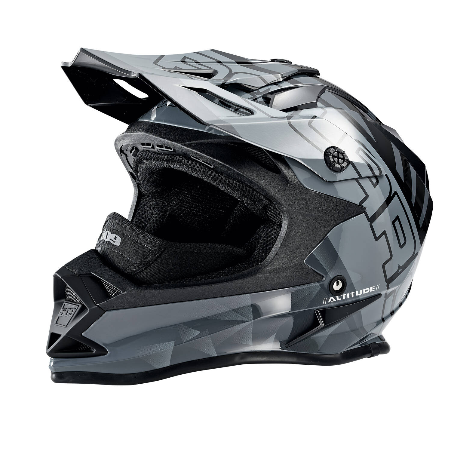 509® Altitude Adult Moto Helmet with Camera Mount, Gray