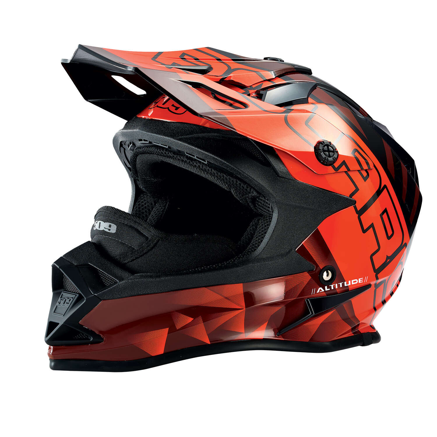 509® Altitude Adult Moto Helmet with Camera Mount, Red