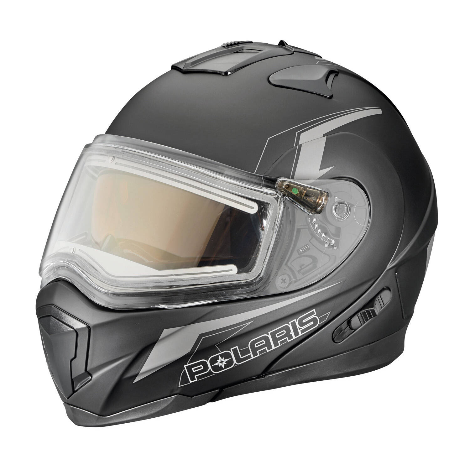 Modular Adult Helmet with Electric Shield, Black/Gray