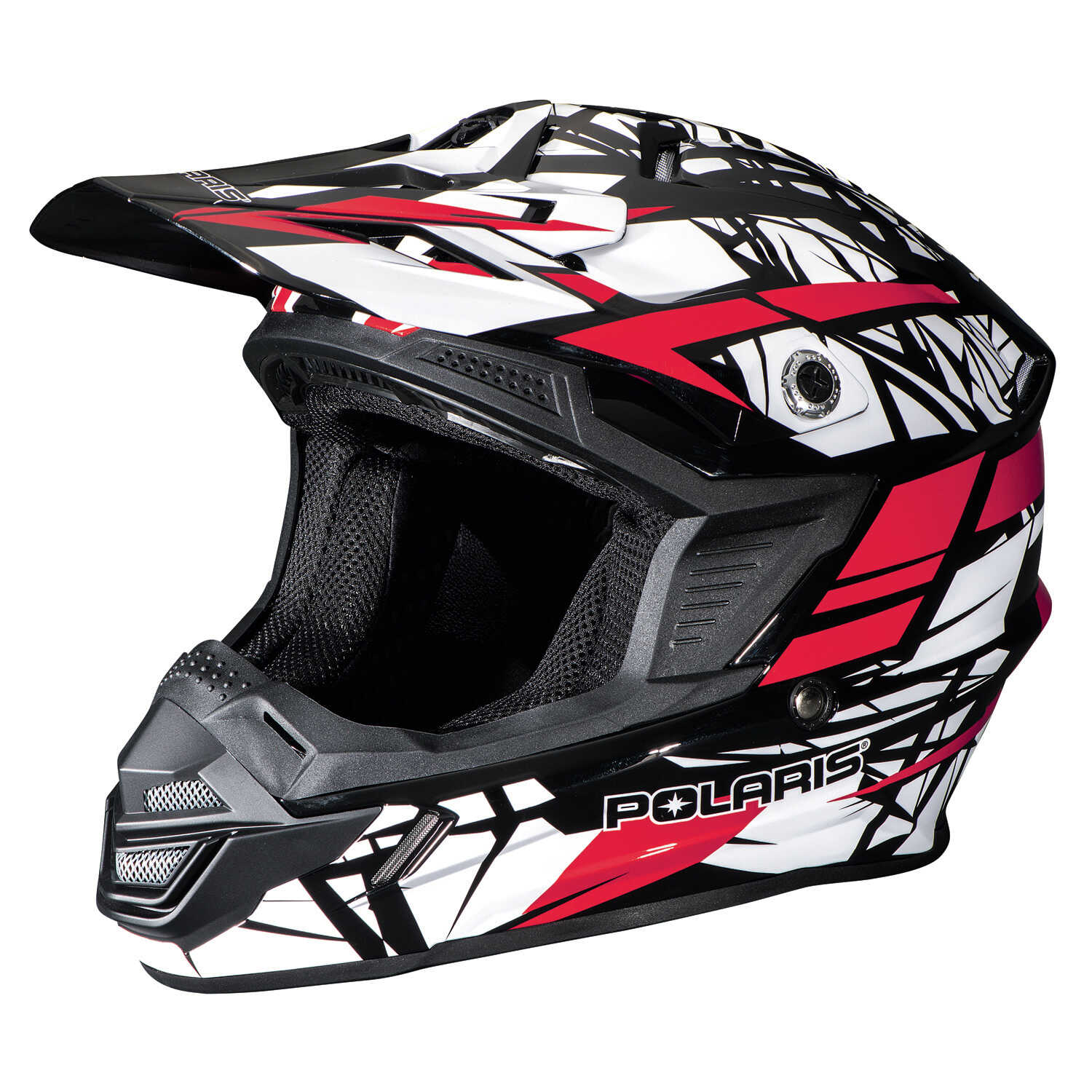 Tenacity Adult Moto Helmet with Removable Liner, Red