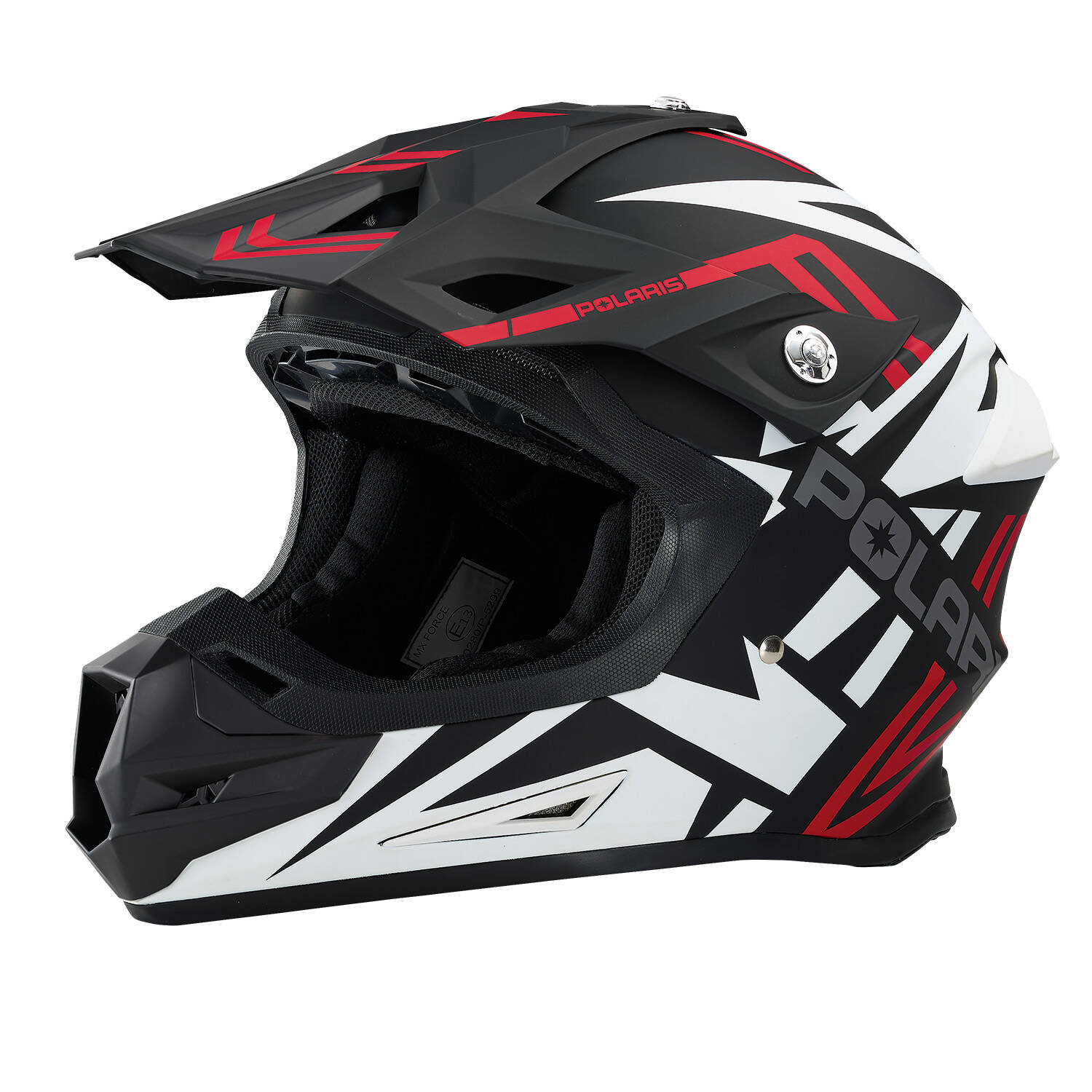 Force Adult Moto Helmet with Removable Mouthpiece, Red