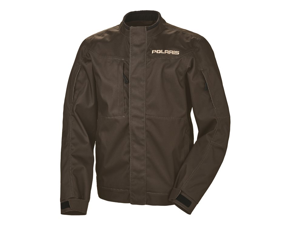 Men's Riding Jacket with White Polaris® Logo, Brown