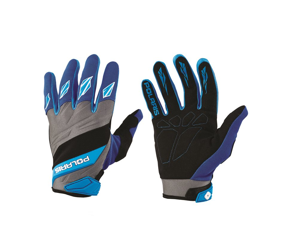 Adult Off-Road Riding Glove with Embossed Knuckle System, Blue