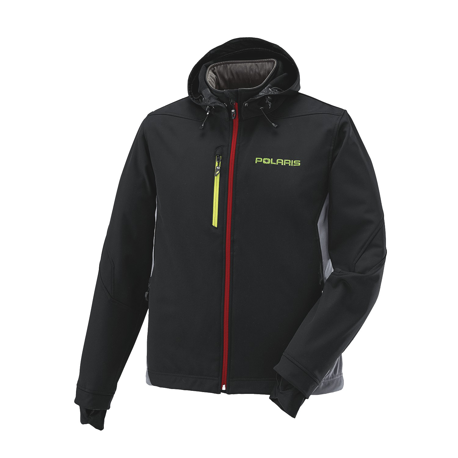 Men's Softshell Jacket with Lime Polaris® Logo, Black